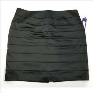 Apt. 9 Women's Black Skirt Leather look Size 16